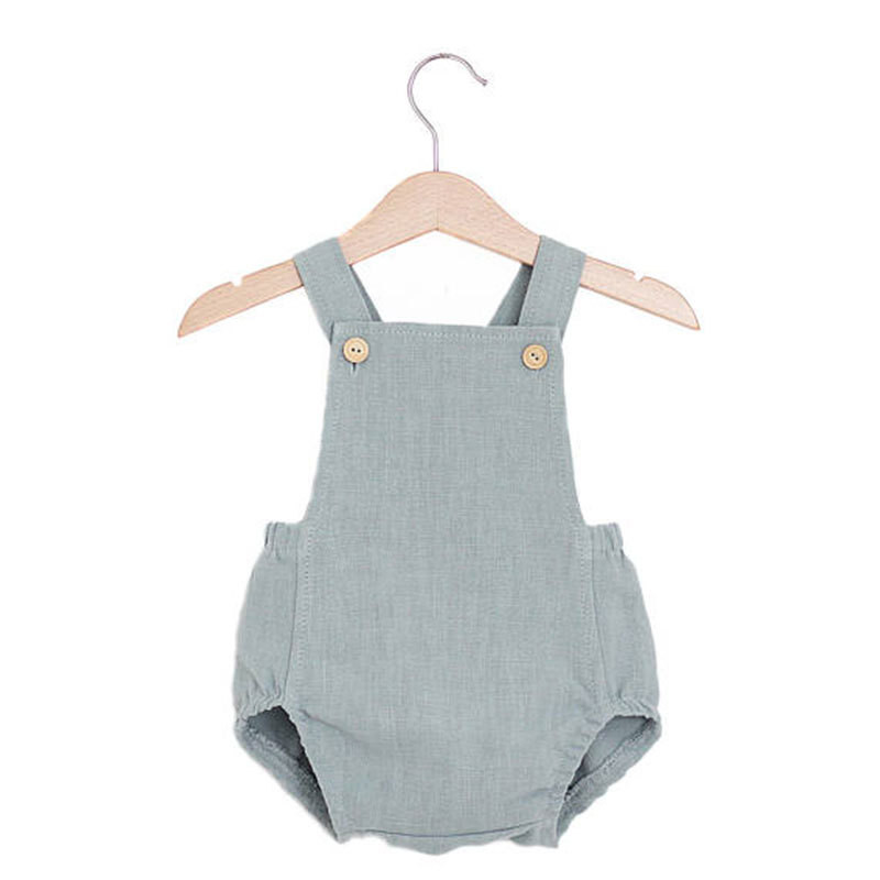 Newborn Baby   Romper   Summer Baby Girls Linen Cotton Jumpsuit Cute Infant Cotton   Rompers   Baby Boys Clothes D1258