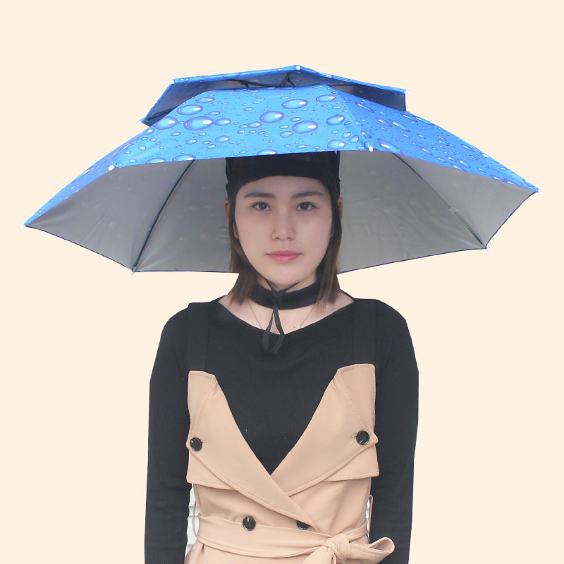 Newly Foldable Fishing Hat Headwear Umbrella Double Layer Windproof Cap for Fishing Hiking Camping BN99|Fishing Caps| |  - title=
