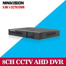 Hot 8CH AHD DVR 1080P 1080N AHD-N H CCTV Recorder Camera Onvif Network 8 Channel IP NVR 1080P 4CH Audio Input Multi-language