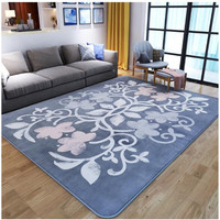 Bedroom carpet living room sofa European tea carpet coral velvet ground mats