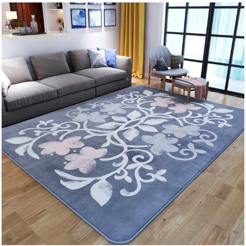 Tapis de chambre salon canapé thé européen tapis corail velours tapis de sol