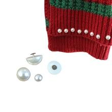 Rivet-Spikes Button Garment-Accessories Decoration Cloth-Pants Crafts Pearl Round Half