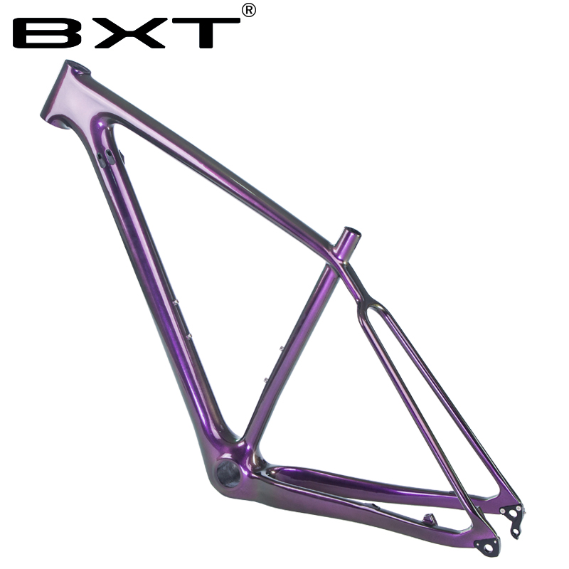 Chameleon Color painting 29er super light full carbon MTB bicycle frame 29inch UD Glossy shiny S/M/L mountain bike frameset PF30