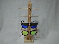 Nature Environmental Wood Glasses Display Shelf Wooden Eyeglasses Holder Stand Store Window Show