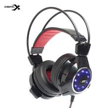 Xiberia V5 3.5mm Casque De Jeu Casques avec Microphone Bruit Cancell Stéréo Écouteurs Glowing LED Lumière USB pour PC Ordinateur