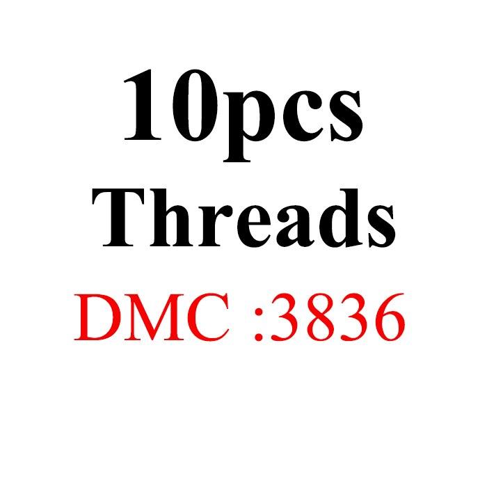 Snowlover, рукоделие, 10 шт./лот, 1,2 м, разные цвета, DMC3824-3848, вышивка крестиком, хлопковое шитье, моток пряжи, нить для вышивки - Цвет: 1.2mthread-DMC3836