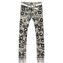 2016 новые люди печать цветной рисунок или узор ночные клубы джинсы, Известный бренд мода джинсовые свободного покроя брюки мужчины, Плюс брюки-размер 28 — 36