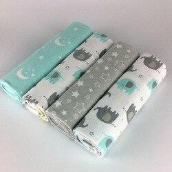 Новый цвет 4 шт/упак. 100% хлопок Фланелевое детское одеяло для новорожденных красочные cobertor детское постельное белье супермягкое одеяло 76x76 с...