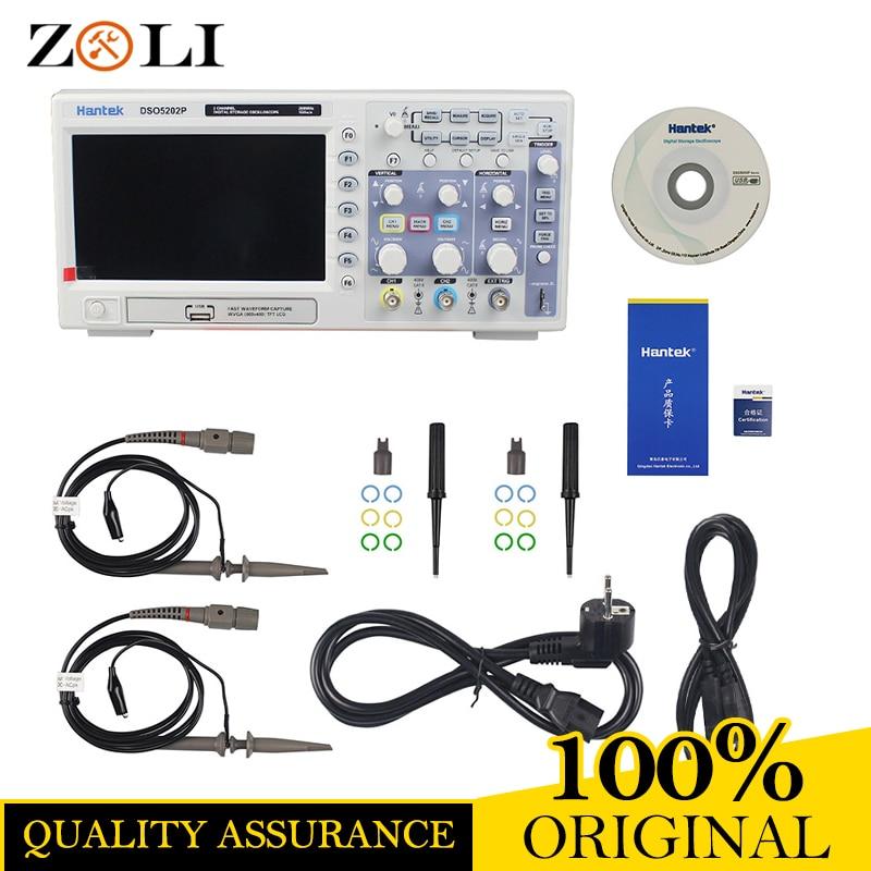 ON SALE Hantek DSO5202P Digital Oscilloscope Portable 200MHz bandwidth 2 Channels Handheld LCD USB Oscilloscopes DSO5202P