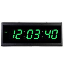 LED cyfrowy zegar elektroniczny wyświetlacz czasu stylowy duży rozmiar cyfrowa ściana zegar salon sypialnia dekoracja biurowa wiszące