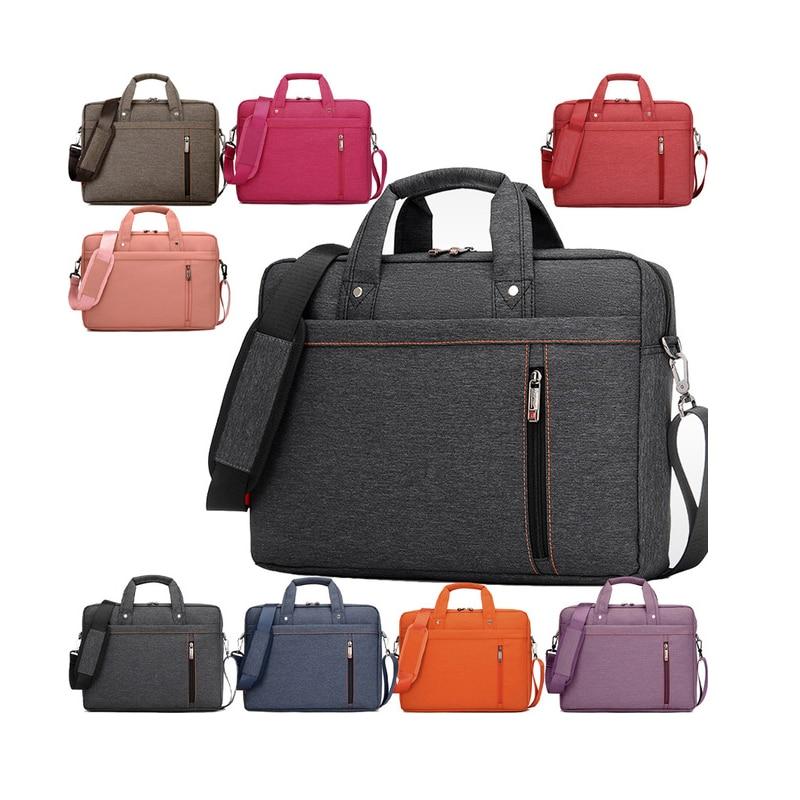 Luxury 13 14 15 17 Inch Nylon Computer Laptop Solid Notebook Tablet Bag Bags Case Messenger Shoulder unisex men women