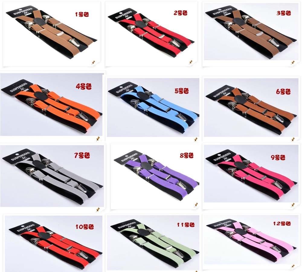 DHL/EMS, Детские регулируемые однотонные подтяжки, Детские эластичные подтяжки, Детские подтяжки, Размер 2,0*65 см, 17 цветов, 200 шт./партия - Цвет: 17 colors