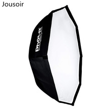Professional 95 cm/38-Inch Octagon Softbox Reflector with Bowens S-Type Speed Ring and Honeycomb Grid – Black CD15