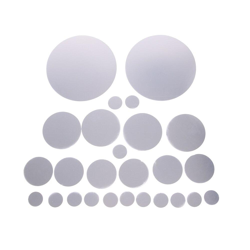 unids espejos decorativos pegatinas de pared redondo de plata dormitorio moderno creativo pegatinas de pared