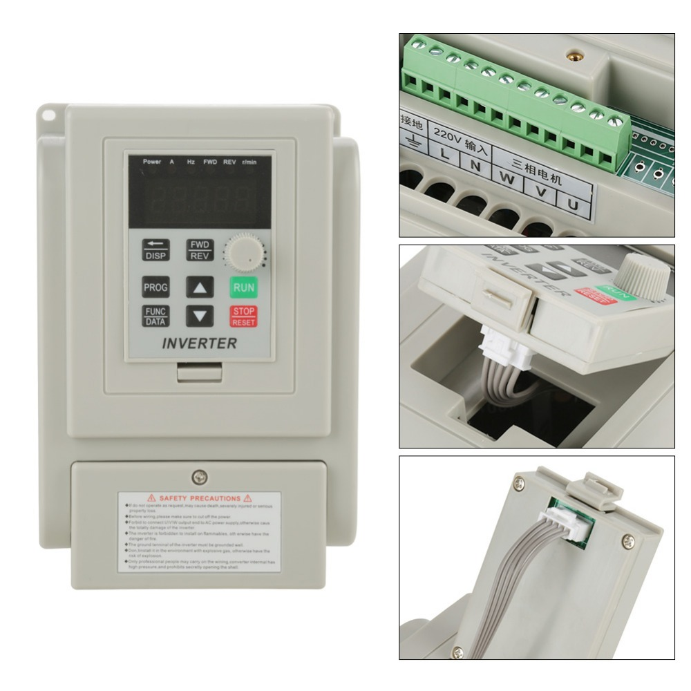 AC 220V Frequency Converter 1 5KW Variable Frequency Drive Converter VFD Speed Controller Converter Inversorde Onda