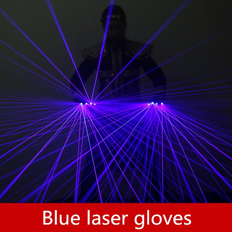 Blue purple laser gloves Individuality creativity Stage props Luminous gloves Laser Dance Equipment for Music FestivalBlue purple laser gloves Individuality creativity Stage props Luminous gloves Laser Dance Equipment for Music Festival