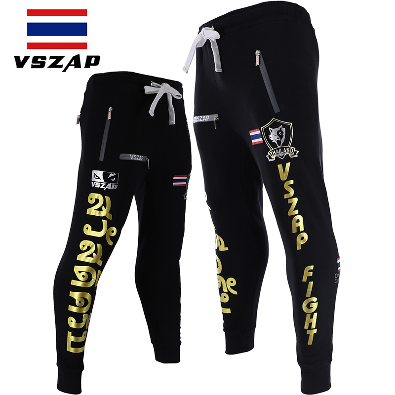 VSZAP Fighting Pants Men Shorts Sports Training And Competition MMA Pants Muay Thai Boxing Shorts Gym Trousers Running Pants