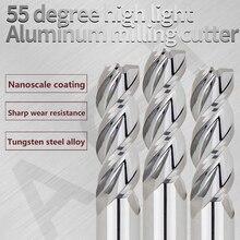 Алюминиевые инструменты с ЧПУ Концевая фреза HRC55 3 Флейта Карбид фреза Концевая фреза для обработки алюминия и меди фрезерные инструменты