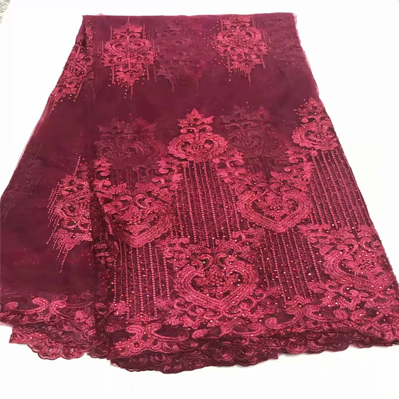 5yards french lace bridal embroidered tulle lace material.latest nigerian african lace fabric for party dress WD0922025yards french lace bridal embroidered tulle lace material.latest nigerian african lace fabric for party dress WD092202