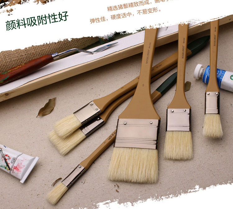 Paint Brush  Bristle Pig Hair Head Oil Painting Propylene Acrylic Painting Brush Special Made Art Brush