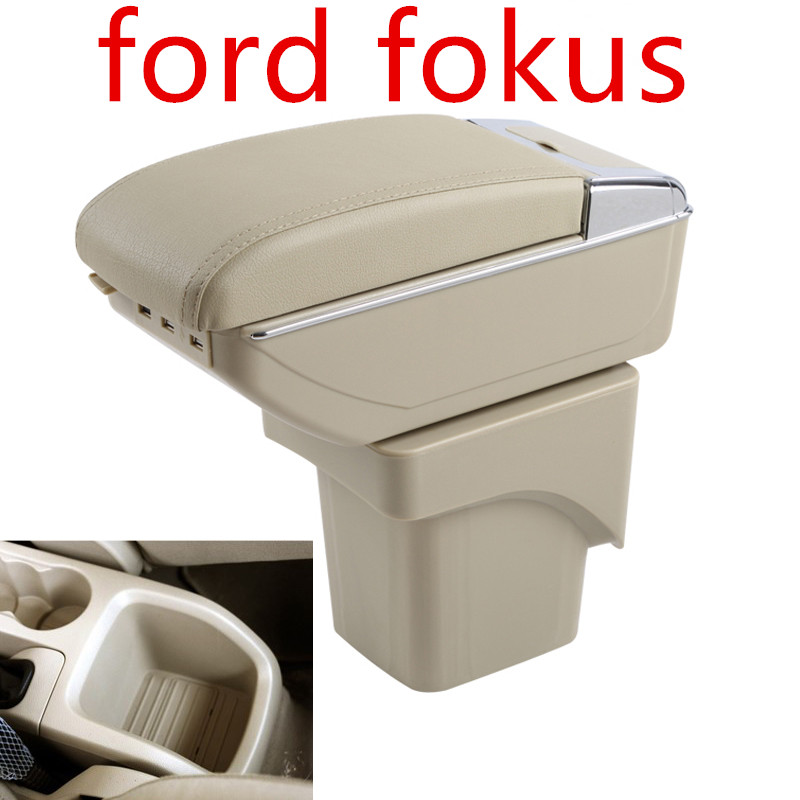 Large Armrest For Ford Focus 2 MK2 2005-2011 Arm Rest Centre Center Console Storage Box Leather Support 2006 2007 2008 2009 2010 7 generation car center console armrest storage box suitable for ford focus 2 focus 3 auto accessories