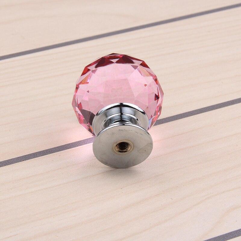 Idee dressoir roze afbeeldingen : 10 stks 30mm Roze Crsytal Pull Kabinet Knoppen en Handgrepen ...