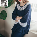2017 New Spring and Summer, Pregnant Women Pajamas Cotton Nursing Home Clothing Suit