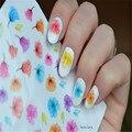1 Hoja de Mármol Flores Nail Art Stickers Ultrafino 3D etiquetas Del Clavo Etiqueta Engomada Del Clavo Adhesivo