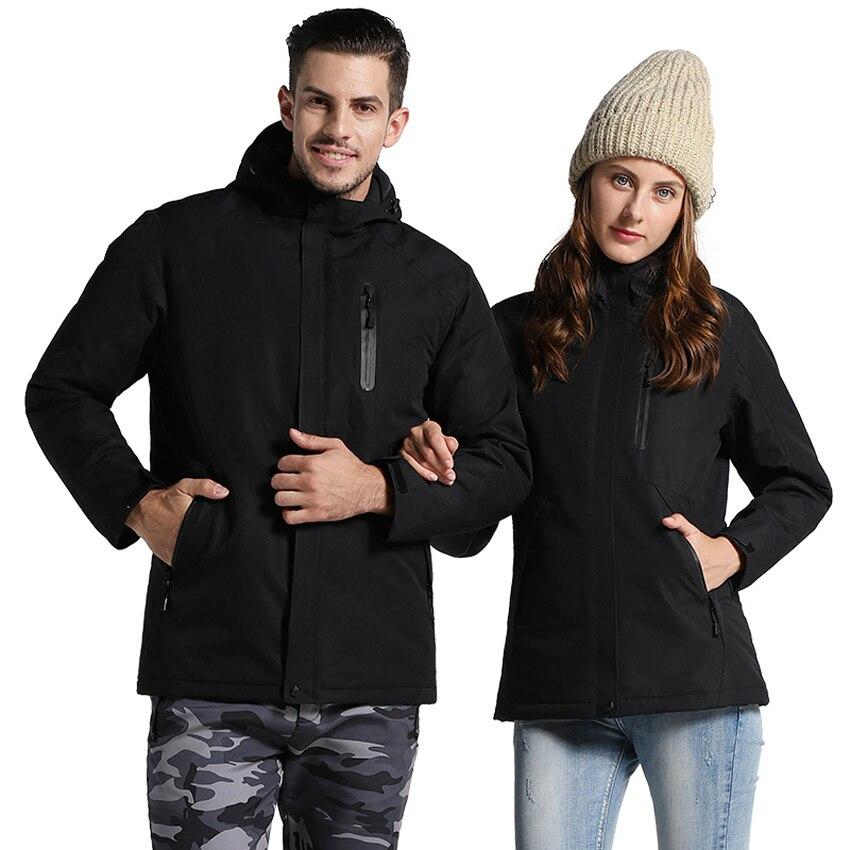 Hiver USB infrarouge chauffage coton hommes femmes veste en plein air Camping coupe-vent imperméable coupe-vent randonnée escalade polaire manteau - 3
