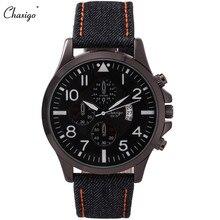 Chaxigo Бренд Кварцевые Часы Мода Спорт Водонепроницаемый 30 М Relógio Masculino Дешевые Часы Холсте Онлайн Часы Бесплатная Доставка