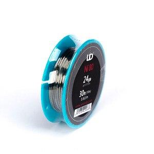 Image 3 - 100% Оригинальный UD нихромовый провод Youde 24ga 26ga 28ga, термостойкий провод 30 футов для Ecig RDA RTA