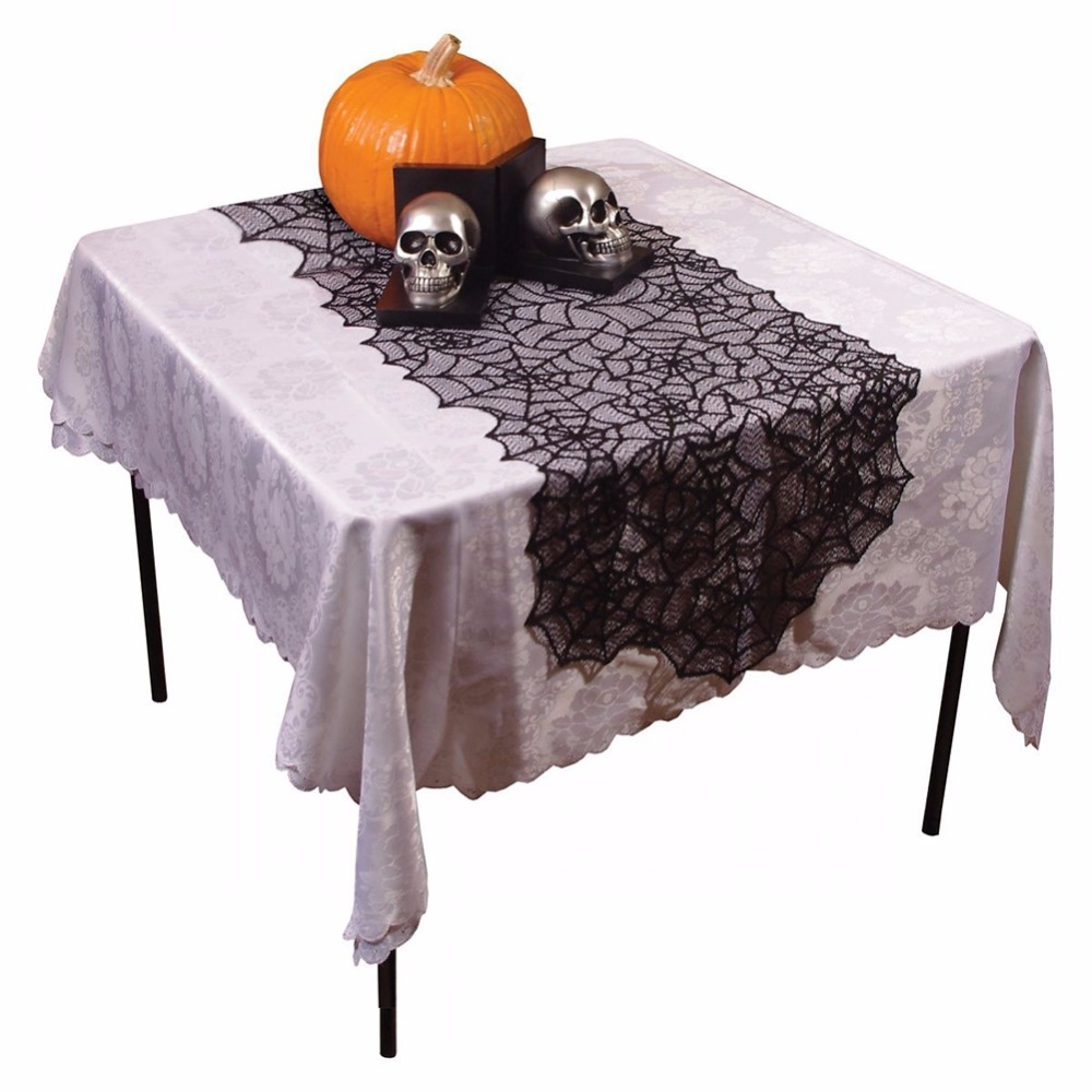 Halloween tablecloth - Halloween Black Lace Table Runner Spider Web Table Runners Spider Tablecloth Halloween Table Decoration Event Party