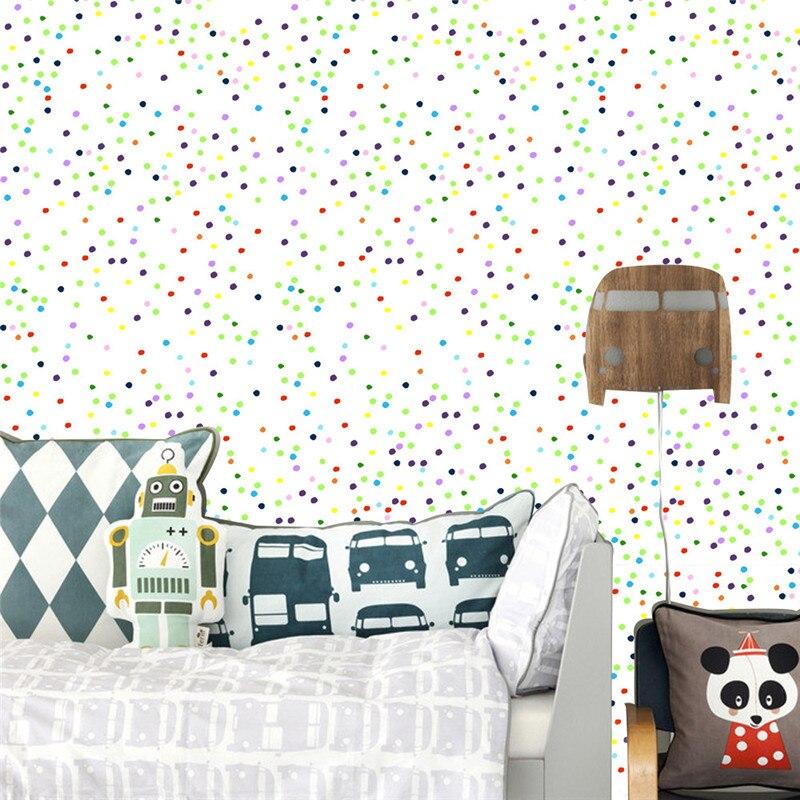 Wall Sticker Wallpaper Self adhesive Modern Dot Colorful Home Decor Waterproof Refurbished Furniture Wall Office Bedroom DIY PVC