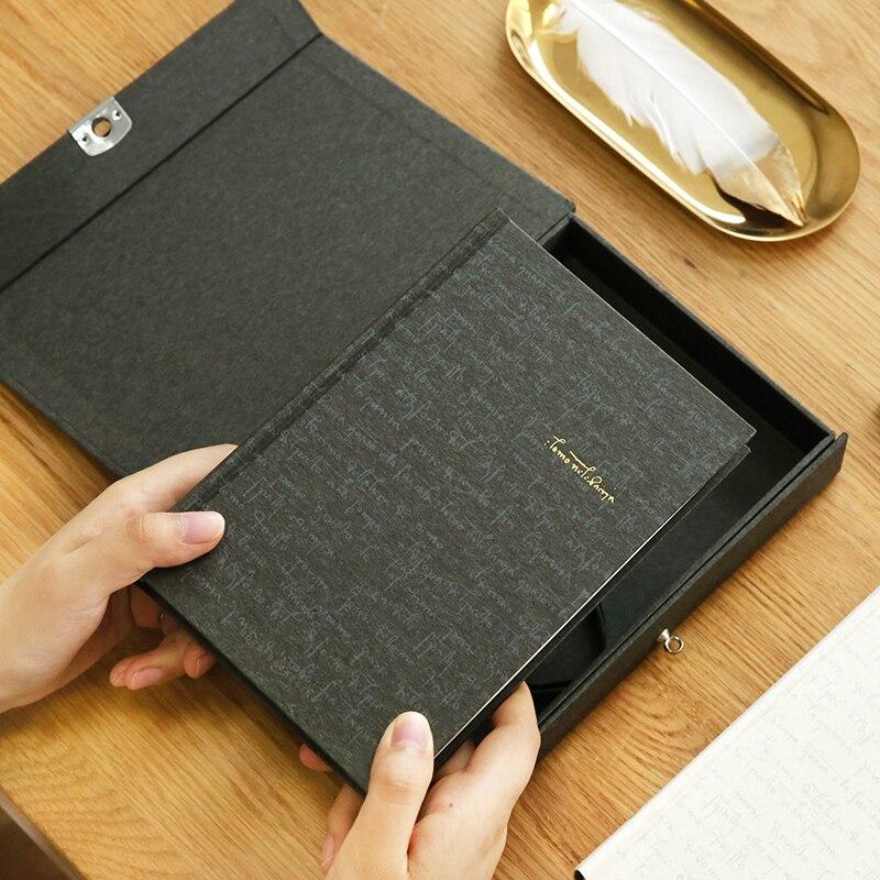 YMLP Da Vinci Code Notebook Locked Diary Vintage Lock Hardcover Book Boxed Notepad 1PCS