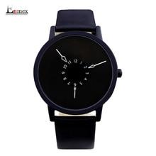 2016 hombres Enmex regalo breve diseño caballero impermeable revã © s creativo mano diseño único para la moda joven relojes de cuarzo