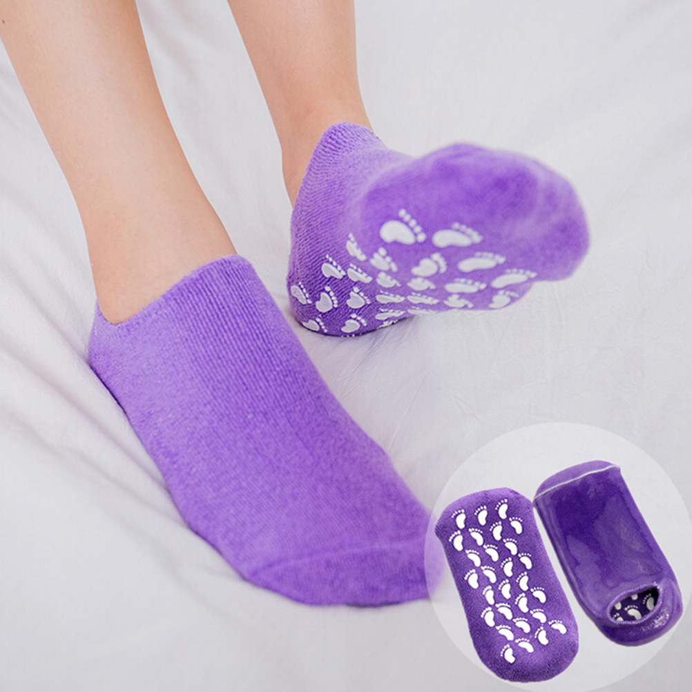 1Pair Whitening Exfoliating Foot Mask Gloves Spa Gel Sock Moisturizing Hand Mask Feet Care Ageless Beauty Silicone Socks
