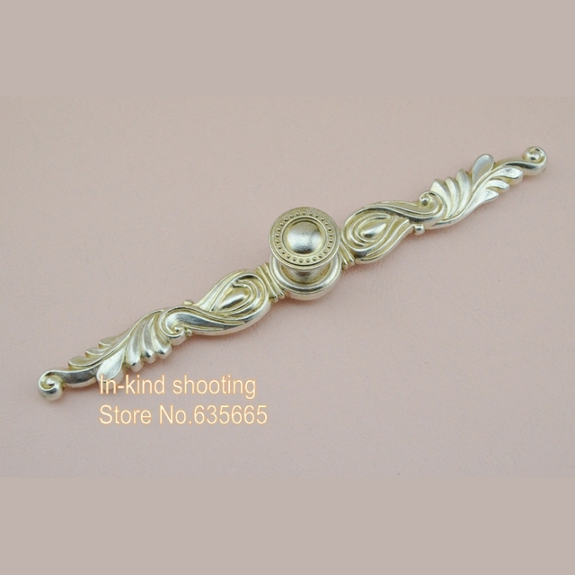 230mm Antique Silver Classical Furniture Hardware Handle Pull Kitchen  Cabinets Door Knob Drawer Wardrobe Cupboard Accessories
