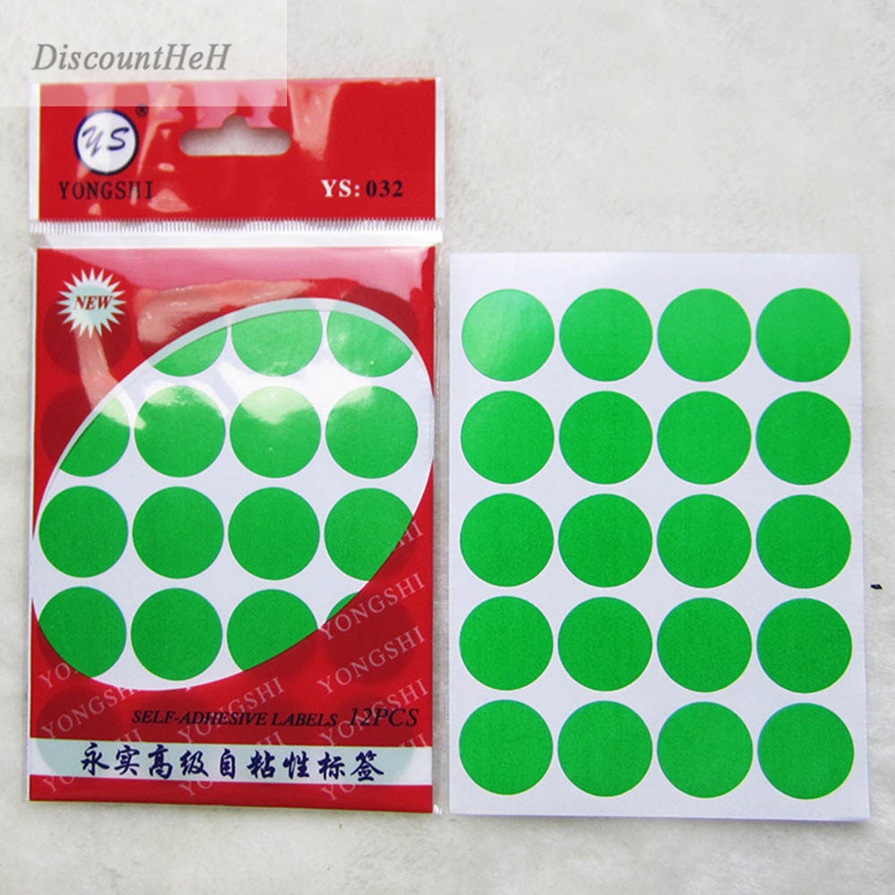 12 Sheets/Pack 20mm Round Dot Color Coded Label Self Adhesive Dot Sticker Office School Supplies