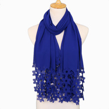 10 шт./лот пузырь шифон Лазерная цветок в горошек полые шарф шали Хиджаб Wrap с жемчугом/мусульманский шарф