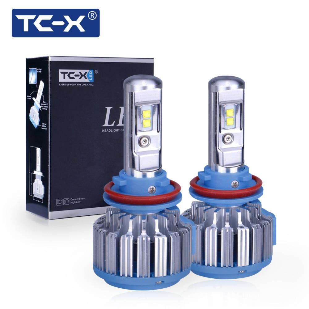 TC-X LED 2017 Auto Scheinwerfer Kit H7 H8/H11 H1 HB3/9005 HB4/9006 H3 880 35 Watt 7000lm Auto Frontscheinwerfer 6000 Karat Auto Styling Beleuchtung