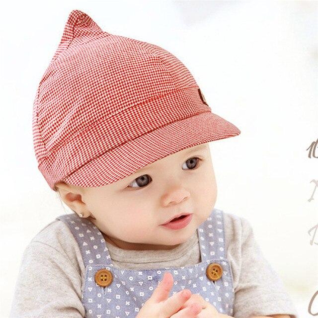 Mignon Enfants Enfants En Bas Âge de Bébé Chapeau Unisexe Garçons Filles  Béret Capeline Treillis Bébé 520ef336d46