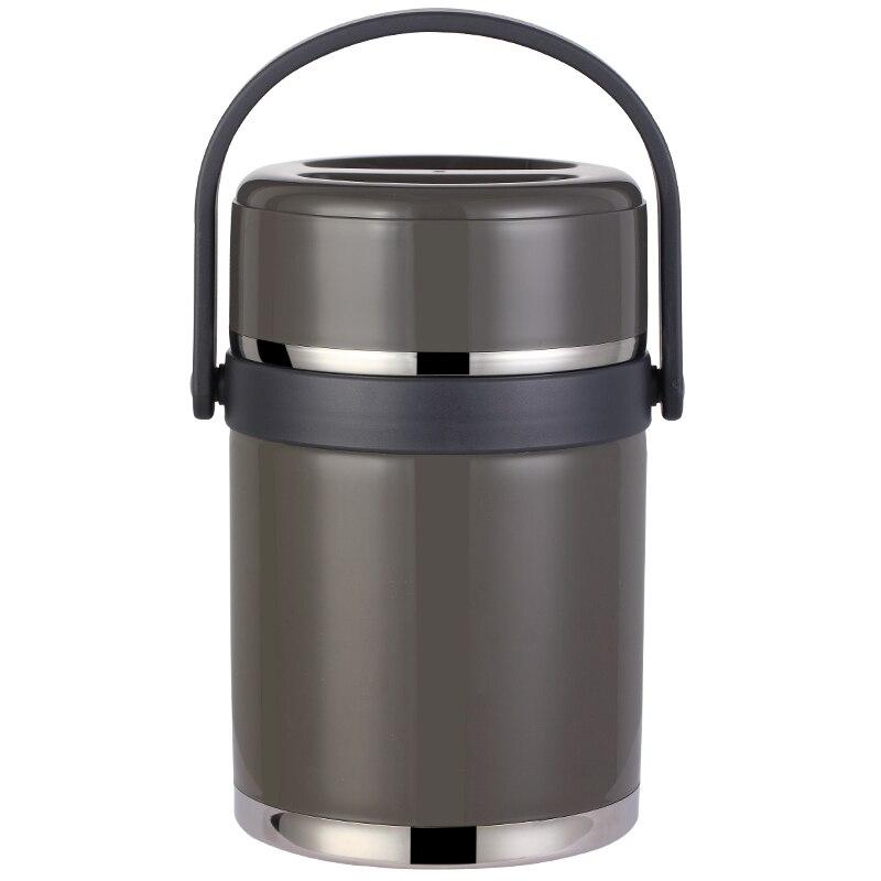 1.9l recipiente à prova de vazamento, almoço balde recipiente de alimentos, 304 de aço inoxidável, 12 horas de almoço térmico, portátil bento box