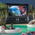 Tela de cinema inflável hermético pvc m012 frete grátis preço barato qualidade premuim com bomba de ar inflável yard tela de cinema