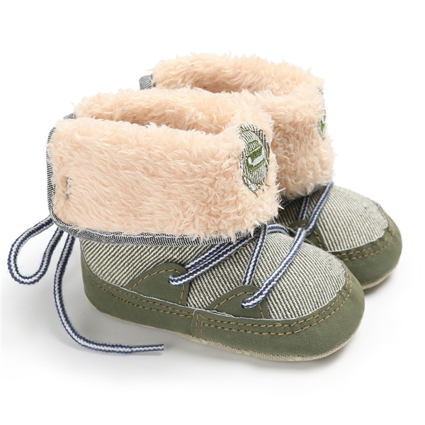 New Winter Baby Snow Boots Fur Wool Thicken Warm Toddler Baby Girl Shoes First Walker Infant