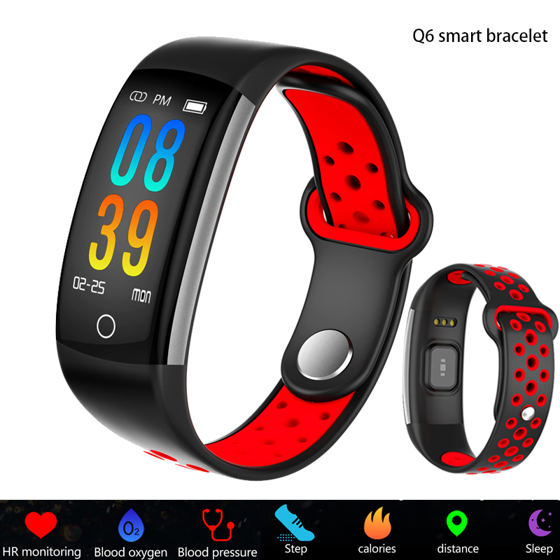 2019 Smartwatch Q6 Heart Rate Monitor Blood Pressure Blood Oxygen Sports Activity Tracker Fitness Smart Watch IP68 Waterproof2019 Smartwatch Q6 Heart Rate Monitor Blood Pressure Blood Oxygen Sports Activity Tracker Fitness Smart Watch IP68 Waterproof