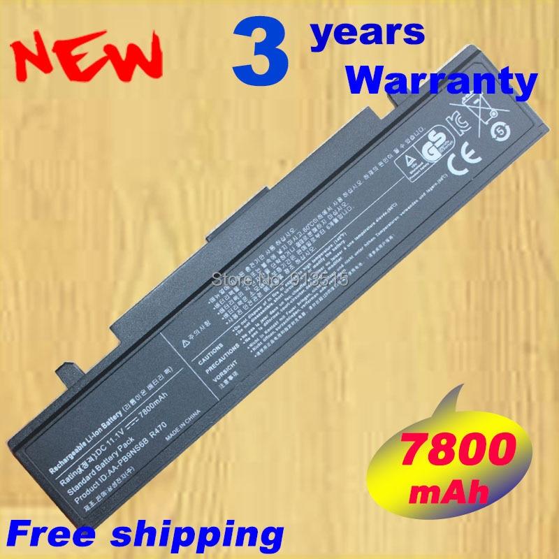 7800 mAh Laptop batterij voor Samsung R530 R540 R519 Q430 Q528 R428 - Notebook accessoires