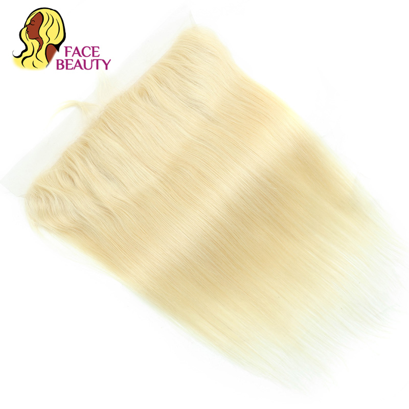 Facebeauty Hair Straight Brazilian Remy Human Hair Pure 613 Color 13x4 Ear to Ear Lace Frontal Closure Swiss Lace Bleached Knots-in Closures from Hair Extensions & Wigs    3