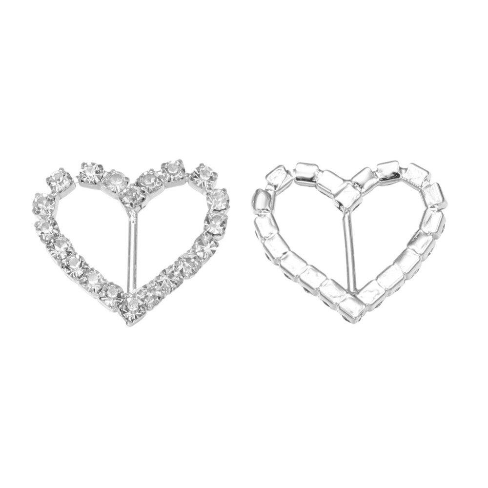 21*15 мм сердце кристалл горного хрусталя пряжки для свадебного украшения Пригласительный билет(BCL-3023