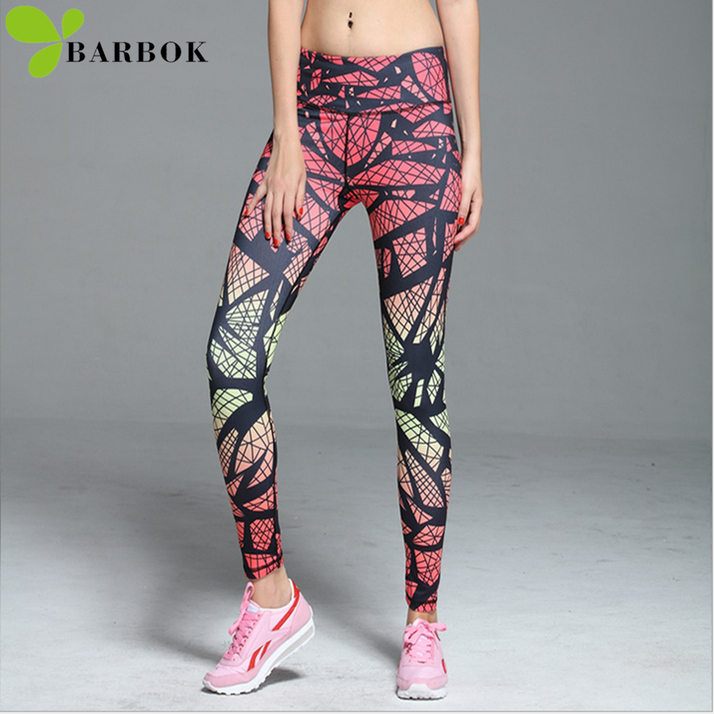 BARBOK yoga tayt spor koşu tayt yoga pantolon seksi ızgara ropa deportiva mujer spor leggins spor kadın spor tayt