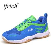 Для мужчин Для женщин бадминтон обувь спортивные кроссовки удобные Indoor туфли-лодочки Для мужчин s синий желтый пара спортивная обувь теннис обучение дешевые